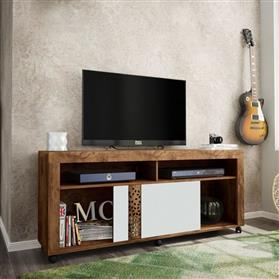 Rack Para Tv. Caemmun Joy F.00399.284 Jatoba Branco White